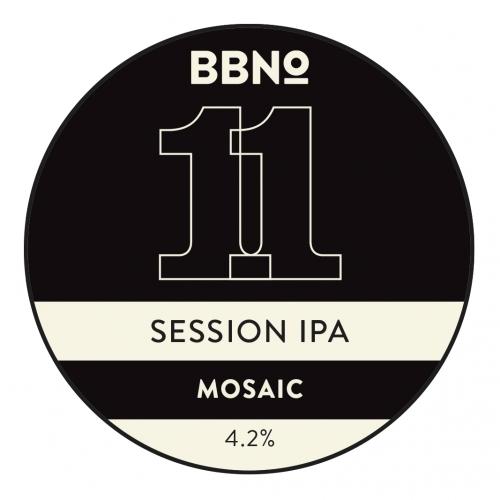 BBNO: 11 Session IPA  (Mosaic) 4.0%