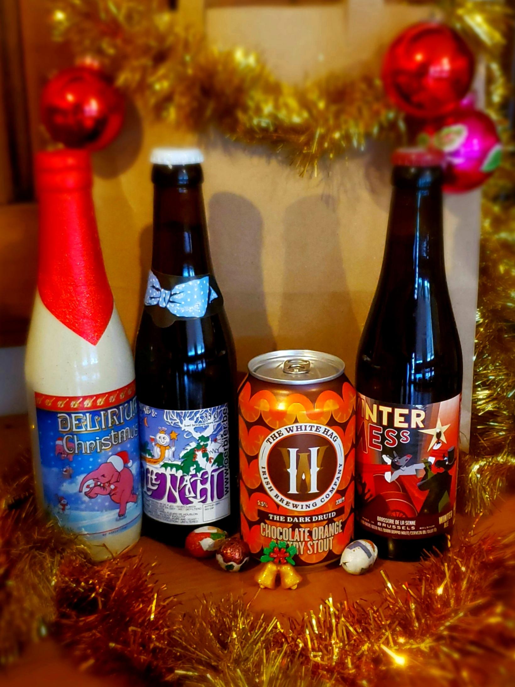 Christmas beer bags